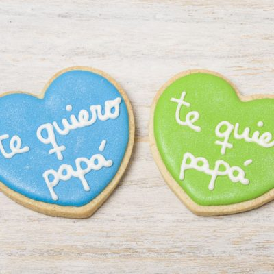galleta decorada corazon