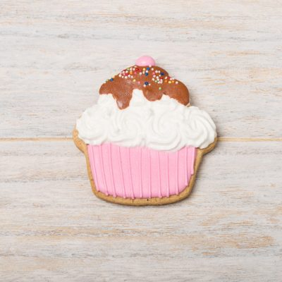 galleta decorada con forma de cupcake
