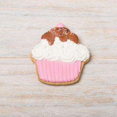 galleta decorada con forma de cupcake