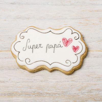 galleta decorada cartel dia del padre