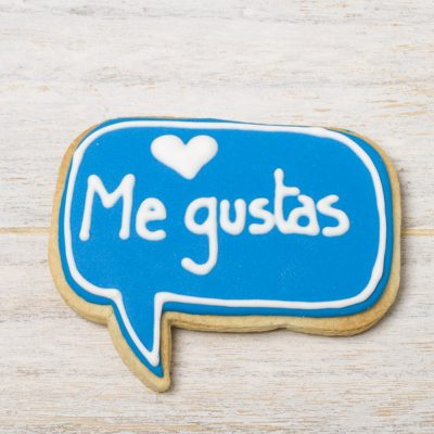 galleta decorada me gustas