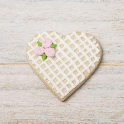 galleta decorada corazon