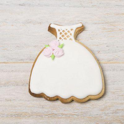 galleta decorada vestido