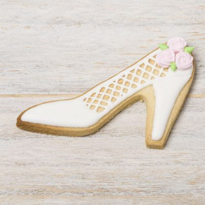 galleta decorada zapato novia