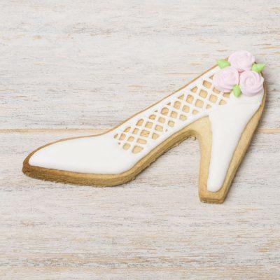 galleta decorada zapato novia