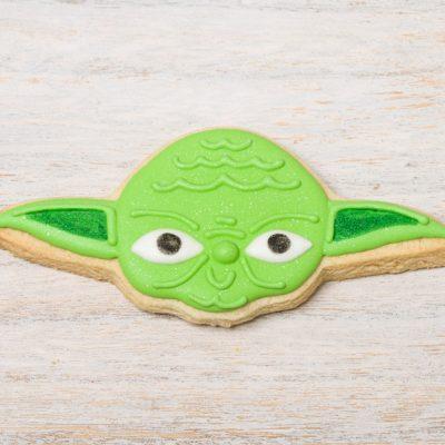 galleta decorada yoda star wars