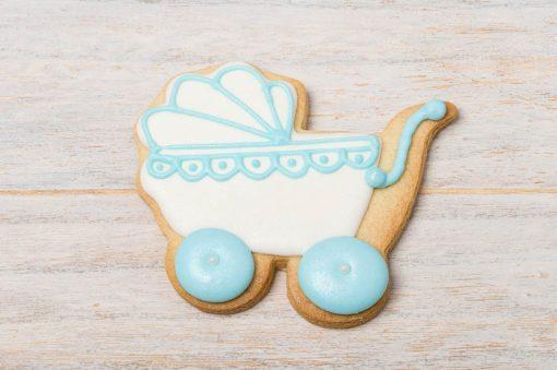 galleta decorada carrito de bebe