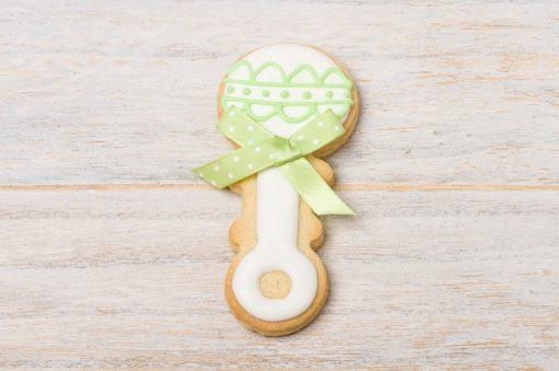 galleta decorada sonajero bebe