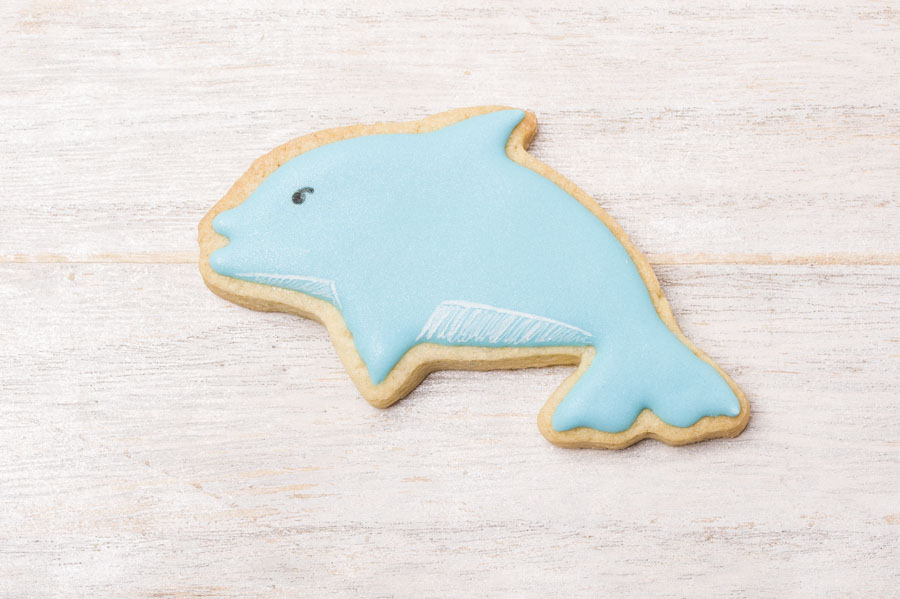 Galleta Decorada Con Forma De Delfín