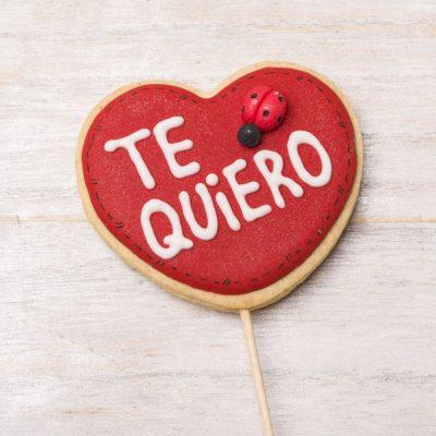 galleta decorada corazón con palo