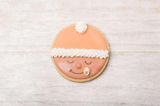 galleta decorada carita bebé