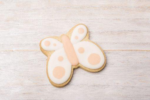 galleta con forma de mariposa