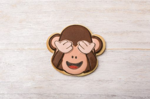 galleta decorada emoticono mono WhatsApp