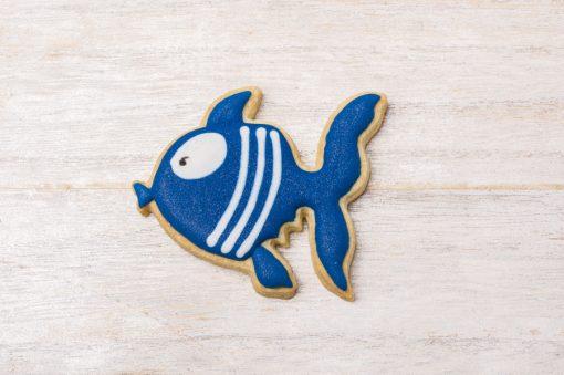 Galleta decorada en forma de pez